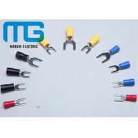China Series SV copper electrical spade Insulated Wire Terminals red blue black yellow TU-JTK wholesale