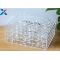 Buy cheap Custom 3 layer acrylic display case clear plastic false eyelash packaging box from wholesalers