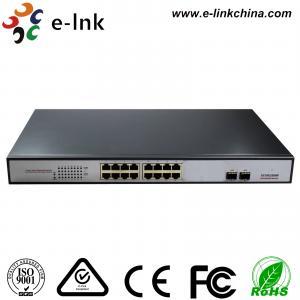 China 16 Gigabit Port + 2 SFP Port Ethernet POE Switch , 15.4W Unmanaged Ethernet Switch wholesale