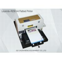 China A4 Inkjet Small Format UV Flatbed Printer Curable Desktop For Soft Material wholesale