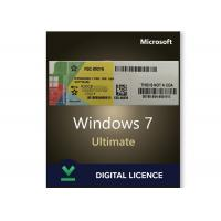 China Original Windows 7 Product Key Codes License Ultimate 32/64 Bit Online Activation wholesale