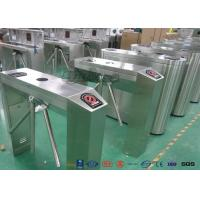 China Fingerprint Retractable Flap Pedestrian Barrier Gate Tripod Gates For Entrance & Exit wholesale