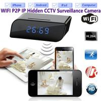 China T8S 720P Alarm Clock WIFI P2P IP Spy Hidden Camera Home Security CCTV Surveillance DVR with Android/iOS App Control wholesale