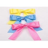 Quality Decoration Tie Satin Ribbon Bow Washable Home Textile With Dyeing for sale