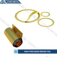 China Customized Bright Golden Yellow Precision Brass Foil Roll For Laminated Shims wholesale
