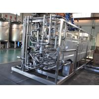 China Milk Heating Dairy Processing Equipment 137-142℃ UHT Tubular Pasteurizer 8TPH wholesale