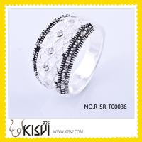 Quality fashion silver ring with marcasite for sale