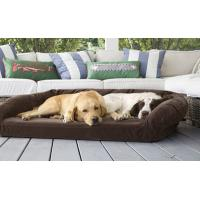 China Luxury Suede Memory Foam Orthopedic Dog Bed , Non - Slip Bottom Orthopedic Egg Crate Dog Bed wholesale