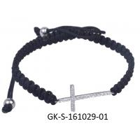 Quality 2013 new fashion 925 sterling silver jewellery cz cross bracelet with competitive price for sale