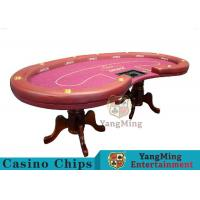 China High Density Texas Holdem Poker Table , Casino Style Poker Table With Soft Touch wholesale