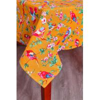 China Orange Custom Printed Tablecloths Machine Washable For Home Kitchen Table wholesale