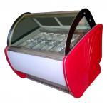 China Economical Ice Cream Display Freezer 1260W 12 Trays For Supermarket wholesale