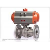 China Stainless Steel Flanged Pneumatic Actuator Valve Control For Industrial Use wholesale