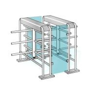 China Double-lane Waist High Turnstile Security Turnstile Gate L1400*W280*H1150mm wholesale