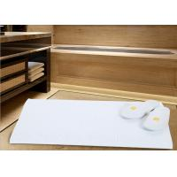 China White Color Modern Hotel Bath Mats For Bathroom Area Microfiber Material wholesale