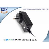 China AC DC Wall Plug Adapter 12V 2A / Wall Mount Power Supply Black Color wholesale