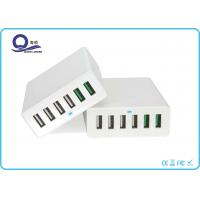 China Qualcomm Certified QC 3.0 Quick Charge 6 Port USB Charger for Smartphones Tablets wholesale