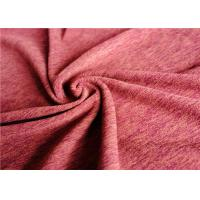 China Two Way Stretch Polyester Spandex Fabric Melange Performance For Sport Garment T Shirt on sale