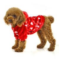 China Red and blue color fleece warm dog clothes wholesale