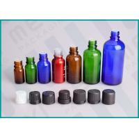 China Color Coated Glass Bottles With Screw Cap And Orifice Reducer For Essential Oil wholesale