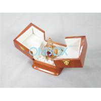 China High Gloss Perfume Packaging Box Recycled Wooden With Metal Lock wholesale