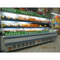 China White / Red Upright Open Chiller Supermarket Showcase With Big Capacity wholesale