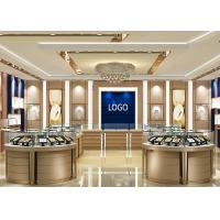 China Jewellers Showroom / Jewelry Display Cases Beige With Lacquer Finished Attractive wholesale
