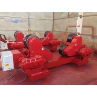 China 100 Ton Loading Capacity Self-Aligned Welding Turning Rolls With Rubber Wheel 5.5kw wholesale