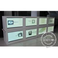 China HD 21.5 Inch Led See Through Screen / Right Angled Transparent Lcd Panel Box wholesale
