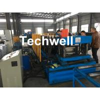 China Automatic PLC Control Cable Tray Roll Forming Machine With Servo Guiding Device wholesale