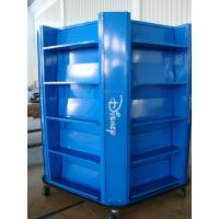 China Multip Sides Floor Standing Display Boards , Blue Trade Show Display Stands wholesale