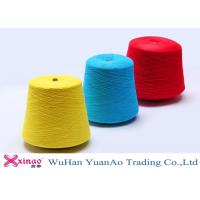 China Ring Spun Polyester Yarn For Sewing Thread , Yellow Blue Red Polyester Thread wholesale