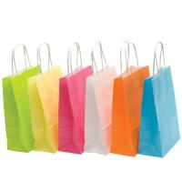 China Recyclable Colored Kraft Paper Bags , Custom Brown Paper Bags For Department Stores wholesale