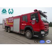 Howo 266 Hp Emergency Rescue Fire Fighting Truck  6 X 4 With High Pressure Pump