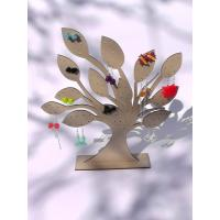 China Tree Jewelry Earring Holder Wooden Display Stand Laser 3mm MDF wholesale