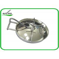 304 316L Stainless Steel Manhole Cover Sanitary Elliptical Shape For Hygienic Tank Vessels