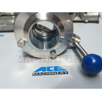 China Stainless Steel Multiposition Handle Clamped Butterfly Valve (ACE-DF-7G) wholesale