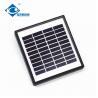 China 2W 10V Glass Laminated Solar Panel for lithium battery solar storage ZW-2W-10V solar panel photovoltaic wholesale