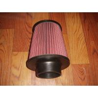 China Racing Auto Air Filters Upper And Lower With Rubber Cover / k And n Air Intake Filter wholesale