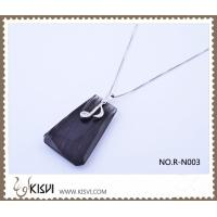 Quality obsidian pendant with 925 sterling sivler R-N003 for sale