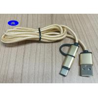 Buy cheap Multi Nylon Braided Round Shape Smartphone USB Cable , Micro And Type C To  USB 2.0 Universal USB Cable product