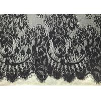 "Buy cheap Black Width 60"" Nylon Embroidered Eyelash Lace Trim with Knitted / Jacquard from wholesalers"
