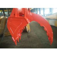 China BSP 3/8 Excavator Bucket Grab , Hydraulic Grapple Attachment With Grating Bucket on sale