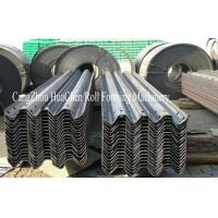 China PLC Guard Rail Roll Forming Machine With GCR15 Bearing Steel For Highways wholesale