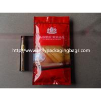 China Humidification System Resealable Ziplock Cigar Bags With Slider wholesale