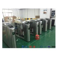 Quality Flap Barrier Gate TCP / IP Flap Turnstile Security Gate Access Control Wheelchair Lanes For Subway Doors for sale
