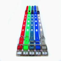 China LED TPU dog collar with foam padded, waterproof and comfortable wholesale