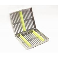 Quality Dental Sterilization Cassette Rack Tray Box for 10 Dental Surgical Instruments for sale