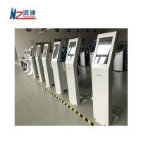 """Buy cheap White Coated Ticket Vending Kiosk 19 """" Screen With Dual Amplified Speakers from wholesalers"""