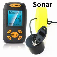 Quality New 2.0'' portable sonar sensor fish finder with thermometer for sale